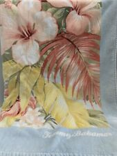 "Tommy Bahama Beach Towel Tropical Flowers Leaves 70""x40"" Plush Cotton Large Soft"