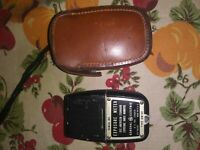 Vintage General Electric Exposure Light Meter, DW-68, Leather Case, Primitive