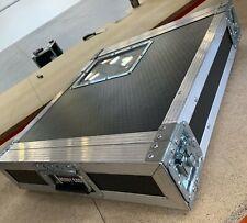 """Used Deep Front 2U 2 Door 19"""" Rack Mount PC/Amp Large DJ Flight Case Equipment"""