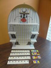 Danbury Mint Looney Tunes Tweety Bird Sylvester Perpetual Wooden Calendar Tile