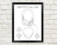 HEADPHONES PATENT PRINT: Beats by Dre Music Blueprint Poster