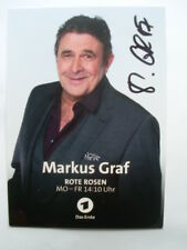 Original Autogramm - Markus Graf - Rote Rosen - Notruf Hafenkante - TATORT
