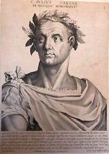 IVILIVS CAESAR.Giulio Cesare. Pierre Mariette ritratto XVII secolo