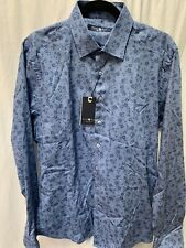 NWT Stone Rose Black Micro Pattern men's M Stretch long sleeve Button Shirt.