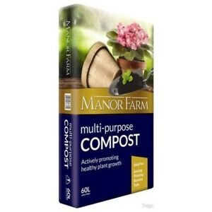 Manor Farm Multi Purpose Compost 60L Actively Promoting Healthy Plant Growth