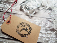 HARE RUBBER STAMP CHRISTMAS, GIFT WRAPPING, CARDS, WEDDINGS