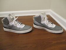 Used Worn Size 12 Nike NSW Pro Stepper Shoes Gray & White