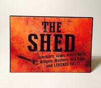 The Shed Metal Wall Plaque Sign Secret Santa Christmas Gift Idea for Him Dad Men