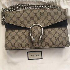 Gucci GG Small Supreme Dionysus Monogram Suede Canvas Chain Shoulder Bag