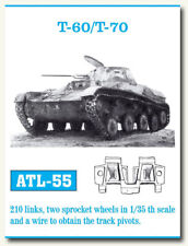 Friulmodel Metal Tracks for 1/35 Soviet T-60/T-70 Tanks (210 links) ATL-55