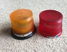 Strobe light, 1 light, 2 lens: Amber & Red, Austin Electronics, series 2020,