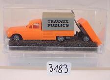 Praliné 1/87 Nr. 2313 Peugeot 403 Pritsche/Plane & Anhänger Travaux OVP #3183