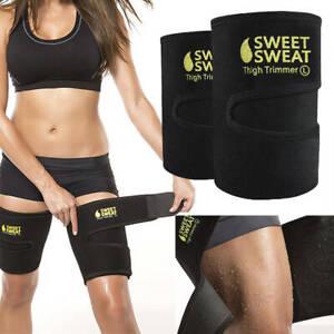 Sweat Sauna Thigh Trimmer Belt Fat Burner Cellulite Shaper Wrap Body Weight Loss