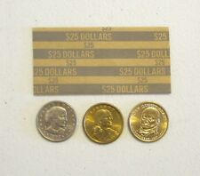 100 COIN WRAPPERS FOR PRESIDENTIAL DOLLARS, SACAGAWEA DOLLAR  & SUSAN B. ANTHONY