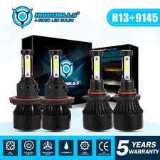 H13 9008 LED Headlight+9145 9140 Fog Lights 4 sides for 2004-2014 Ford F-150