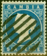 More details for gambia 1880 6d blue sg18b fine used