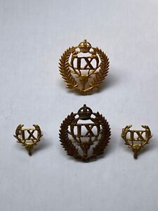 9th Hawke's Bay Regiment  New Zealand Army Cap and Collar Badges NZ ANZAC