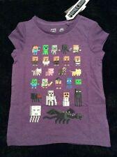 BNWT NEXT Purple MINECRAFT T-Shirt Top 5 Years