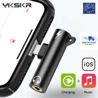 Adaptateur 2 en 1 pour iphone 7 8 plus X audio écouteur double chargeur jack