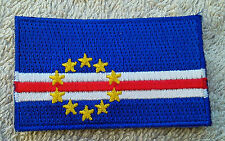 CAPE VERDE FLAG PATCH Embroidered Badge Iron or Sew on 4.5cm x 6cm Cabo Verde