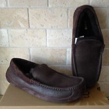 UGG ASCOT BOMBER CHOCOLATE SUEDE/ SHEEPSKIN SLIPPERS MOCCASIN US 11 MENS 1008391