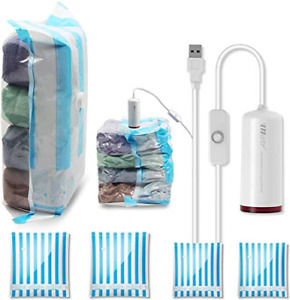 VMSTR Travel Vacuum Storage Bags with USB Electric Pump, Medium Small Space Bags