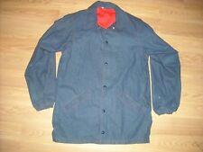 Vtg 70S Mens Small Denim Jean Button Rockabilly Work Baseball Jacket