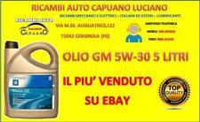 OLIO PER AUTO/MOTORE GM 5W-30 5 LITRI - OLIO