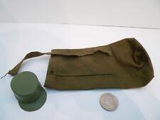 """VINTAGE 12"""" GI JOE 1960'S - #7500 ACTION SOLDIER - HAT & Duffle Bag Parts Lot !"""