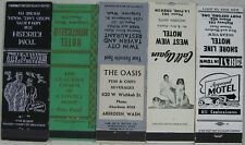5 1940's-50's Matchbooks Port Orford La Pine OR Redmond Longview WA