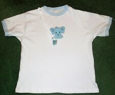 """Adult BABY EMBROIDERED DIAPER SHIRT CUTE BABY ELEPHANT 52"""" CHEST"""