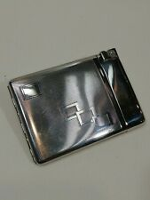 Metal Combination Lighter and Cigarette Holder Case Made in Austria