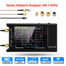 10k-1.5GHz NanoVNA NanoVNA-H4 Network Vector Antenna Analyzer W/ 4'' LCD Screen