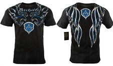 ARCHAIC AFFLICTION Mens-T SHIRT RIDE IT BIKER SHIRT BLACK BLUE UFC MMA LARGE $40
