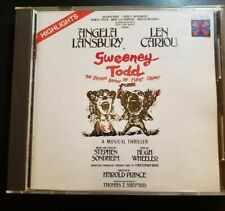Soundtrack Sweeney Todd Red Seal RCA Target CD Made In Japan HIGHLIGHTS RARE OOP