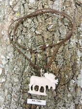 Ciondolo in OSSO inciso a mano ALCE moose elk Natura CANADA Nord America pendant