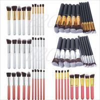 10Pcs Professional Cosmetic Makeup Brush Set Eyeshadow Foundation Blush Brushes