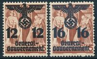 Stamp Germany Poland General Gov't Mi 033-4 Sc N38-9 1940 WWII War Era MH