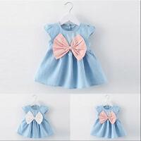 Toddler Kids Baby Girl Summer Tutu Dress Princess Party Wedding Bowknot Dresses