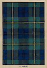 "Johnston's ""Scottish Clans & Tartans"" - ""JOHNSTON"" - Chromolithograph - c1890"