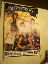BON JOVI;FRANKFURT FESTHALLE 1988 TOURPLAKAT 85x118  vg+/  gerollt