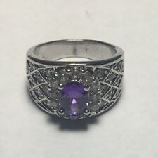 amethyst ring size 7 sterling silver