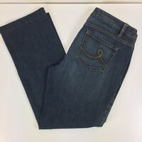LOFT Womens Original Boot Cut Jeans Stretch Mid Rise Denim Size 10