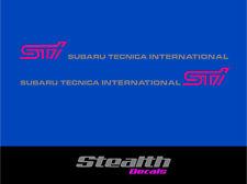 Subaru impreza STI door stickers/ decals x2 Premium Quality Magenta/ silver