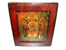 Antike russische Ikone Synaxis der Engel um 1800 aus Sammlernachlass Expertise