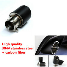 100% Real Carbon Fiber Exhaust Tips Tail Pipe for Car Inlet 63 mm Outlet 101 mm