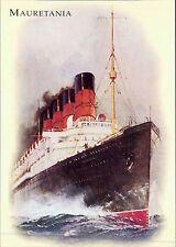 Postcard Cunard RMS Mauretania Cruise Ship White Star Line JE.105