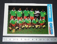 CAMEROUN LIONS TEAM FICHE ONZE MONDIAL COUPE MONDE FOOTBALL ITALIA 90 1990