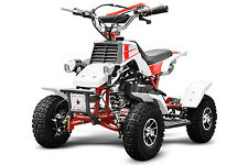 AKTIONSPREIS NEU 49cc Quadro LED Mini Quad für Kinder Kinderquad Powerquad 49ccm
