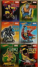 NEW! HOT WHEELS - MARVEL COMICS POP CULTURE CARS SET 6 HULK LOKI THOR IRON MAN